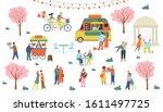 st. valentine's day set of... | Shutterstock .eps vector #1611497725