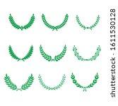 green realistic set of circular ... | Shutterstock .eps vector #1611530128