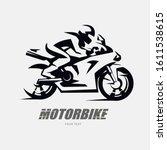 speed bike racer on the sport... | Shutterstock .eps vector #1611538615