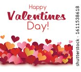 valentine card origami style... | Shutterstock .eps vector #1611538618