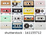 collection of various vintage... | Shutterstock . vector #161155712