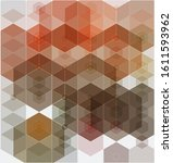 vector abstract geometric brown ...   Shutterstock .eps vector #1611593962