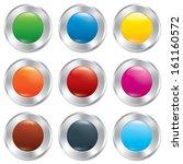 metallic buttons template set.... | Shutterstock . vector #161160572