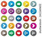 arrow sign icon set. simple... | Shutterstock . vector #161160602