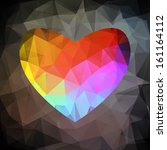 colorful heart. vector retro...   Shutterstock .eps vector #161164112