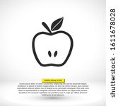 apple icon vector in trendy...