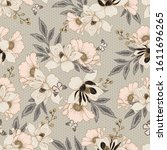 seamless vector pattern with... | Shutterstock .eps vector #1611696265