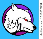this evil white wolf is a high... | Shutterstock .eps vector #1611696388