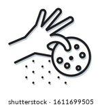 human hand holding cookies  ... | Shutterstock .eps vector #1611699505