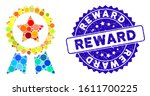 collage reward seal icon and... | Shutterstock .eps vector #1611700225
