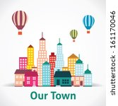 building icon set. abstract... | Shutterstock .eps vector #161170046