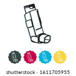 asthma puff   pressurized... | Shutterstock .eps vector #1611705955