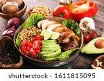 Healthy Salad Bowl With Quinoa  ...