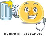 happy banana chips mascot...   Shutterstock .eps vector #1611824068