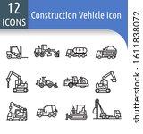 road construction equipment... | Shutterstock .eps vector #1611838072