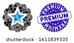 mosaic premium icon and grunge... | Shutterstock .eps vector #1611839335