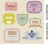 vintage labels and ribbon retro ... | Shutterstock .eps vector #161184566
