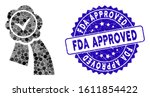 mosaic approved seal icon and... | Shutterstock .eps vector #1611854422