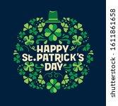 hand lettering saint patrick's... | Shutterstock .eps vector #1611861658