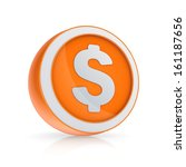 dollar icon.isolated on white... | Shutterstock . vector #161187656
