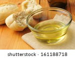a bowl of olive oil and hard... | Shutterstock . vector #161188718