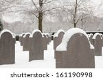 Cold Soldier Tombstones In The...