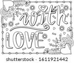 With Love Font With Heart And...