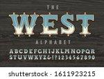 a western  old west frontier ... | Shutterstock .eps vector #1611923215