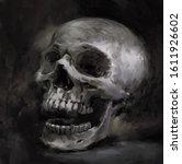 illustration painting of creepy ... | Shutterstock . vector #1611926602