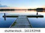 Boat Dock On The Lake. Pierce.