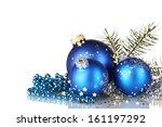 Christmas Ball And Green Tree...