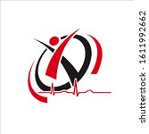 abstract healthy people logo... | Shutterstock .eps vector #1611992662