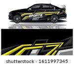 car decal wrap vector design  | Shutterstock .eps vector #1611997345