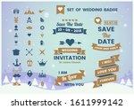 vintage retro vector for banner ... | Shutterstock .eps vector #1611999142
