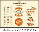 vintage retro vector for banner ... | Shutterstock .eps vector #1611999145