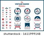 vintage retro vector for banner ... | Shutterstock .eps vector #1611999148