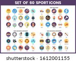 sports icons set for business ... | Shutterstock .eps vector #1612001155