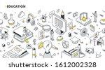 education  online training... | Shutterstock .eps vector #1612002328