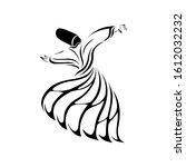 mevlana  dancing dervish figure ... | Shutterstock .eps vector #1612032232