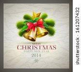 vector retro christmas card... | Shutterstock .eps vector #161207432