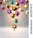 christmas background with... | Shutterstock .eps vector #161207672