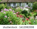 Flowering Garden In Front Of An ...