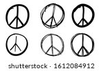 peace sign set  vector... | Shutterstock .eps vector #1612084912