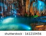Cenote Dzitnup Near Valladolid...