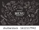 set of flat hand drawn isolated ... | Shutterstock .eps vector #1612117942