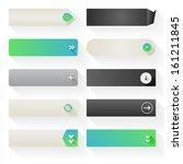 ten call to action buttons ... | Shutterstock .eps vector #161211845