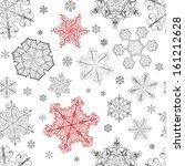 christmas seamless pattern from ... | Shutterstock .eps vector #161212628