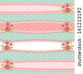 set of vintage floral ribbons... | Shutterstock .eps vector #161213192