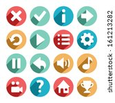 flat and round game icons | Shutterstock .eps vector #161213282
