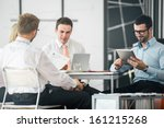 a group of corporate people... | Shutterstock . vector #161215268